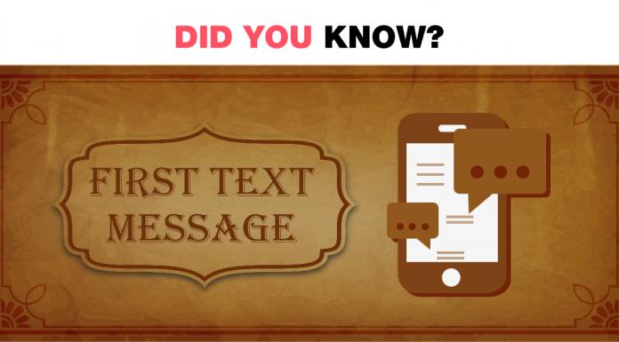 First Text Message