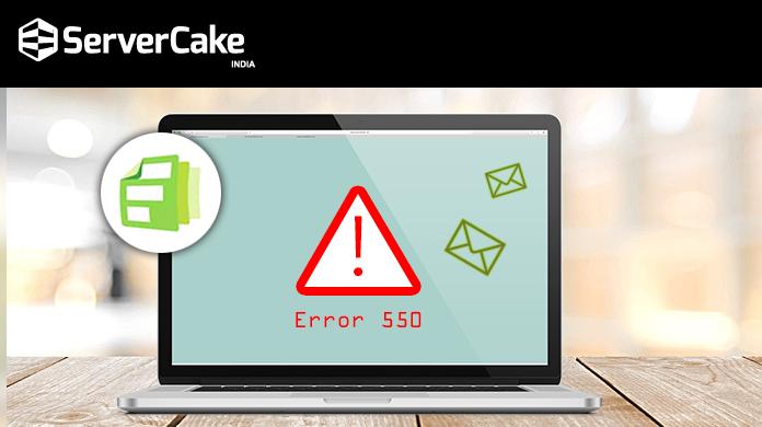 Solve 550 error
