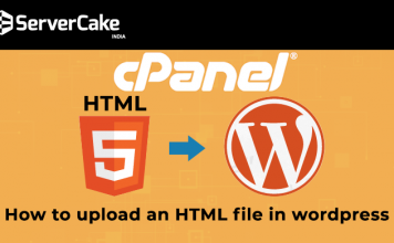 HTML file in WordPress