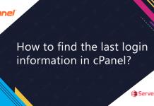 Find last login information