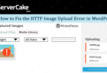 HTTP error in WordPress
