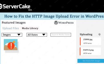 HTTP error in WordPress