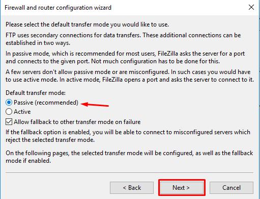 Router-configuration-transfermode