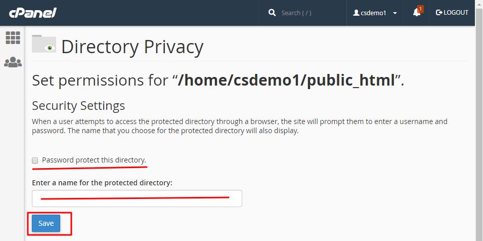Password-directory