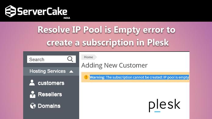 IP pool is empty error
