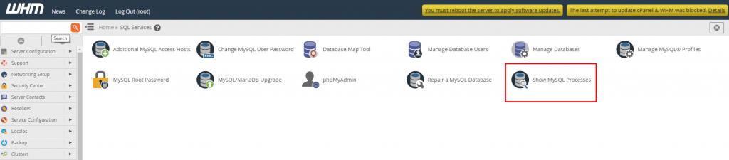 Show MySQL processes