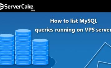 list MySQL queries on VPS