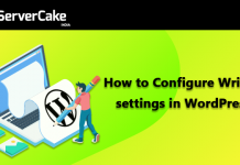 configure writing settings