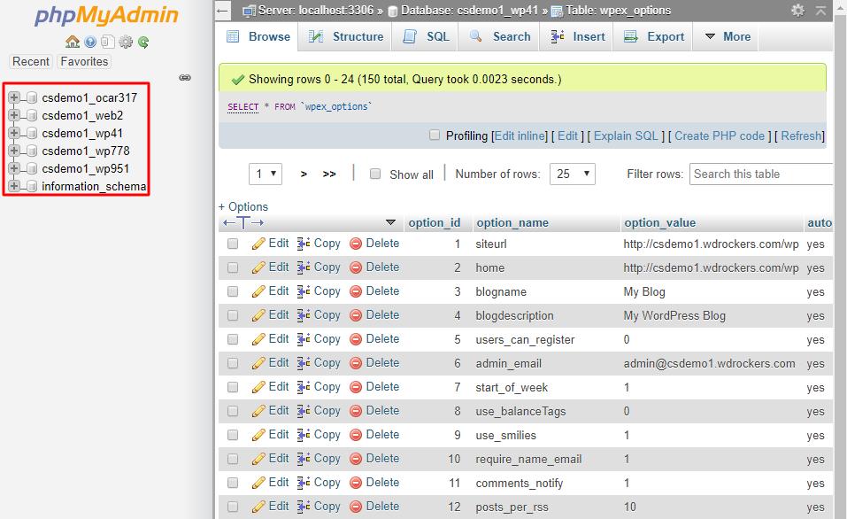 List-database