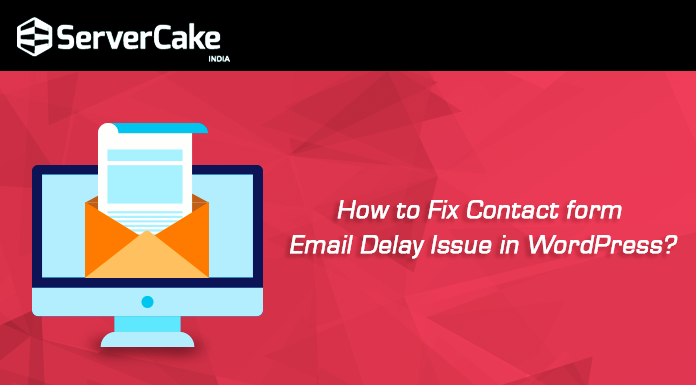 Contact form email delay