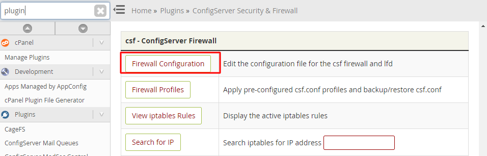 Firewall-configuration