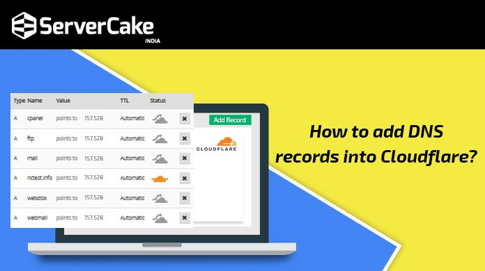 Add DNS records into Cloudflare