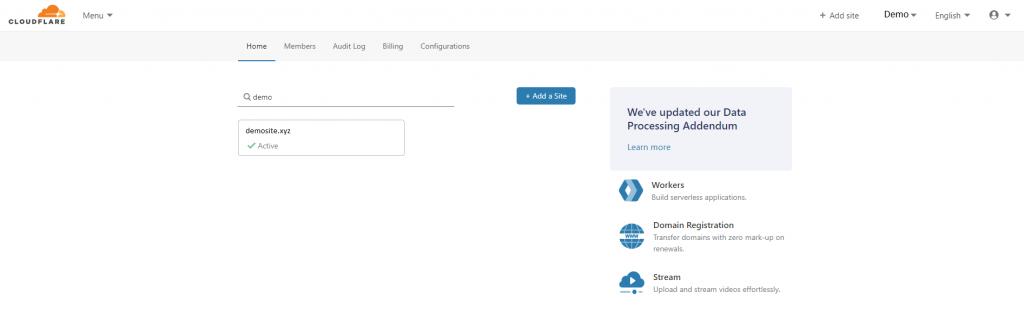 Select the domain name